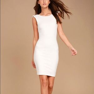 NWT Lulu's White Mini Bodycon Dress Xs